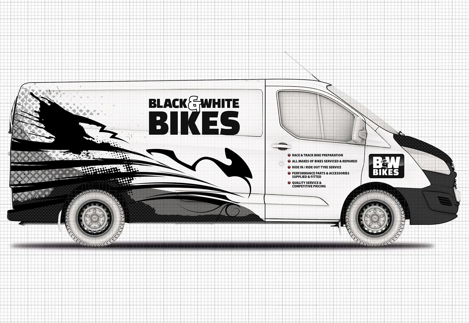 B&W Bikes – Van Graphics